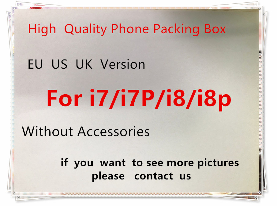 50pcs High Quality US EU Version Phone Packaging Packing Box Case For Phone 7 7P 8 8P Without Accessories Empty Package Box in Phone Accessory Bundles Sets from Cellphones Telecommunications