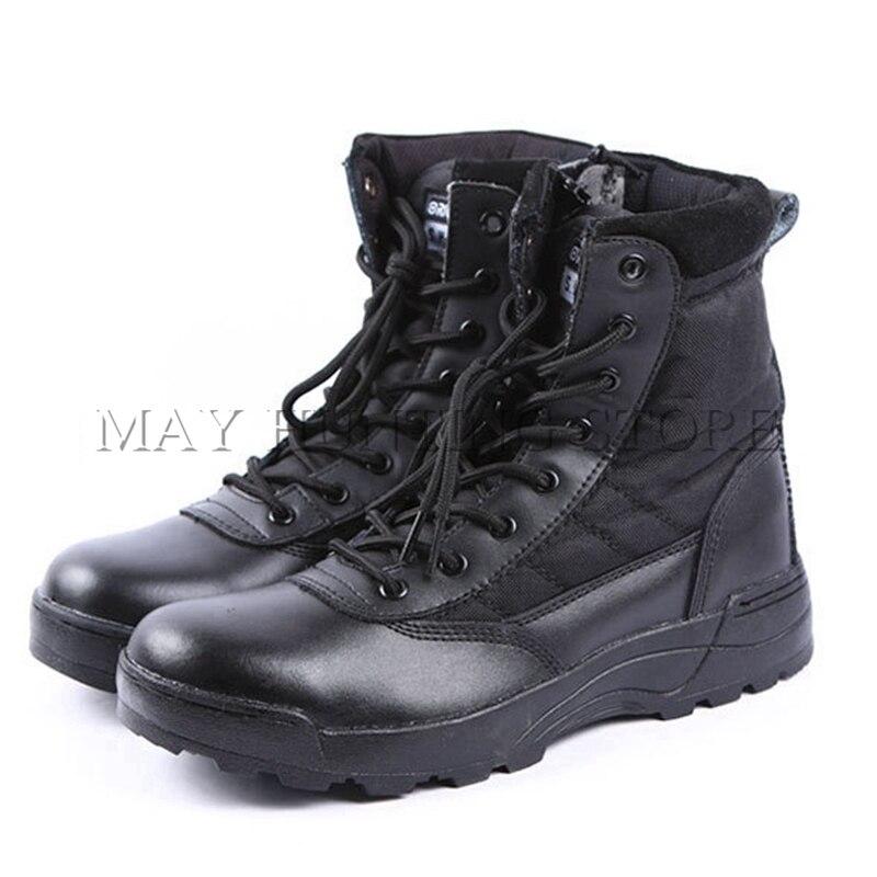 Bottes militaires tactiques en plein air formation armée de Combat chaussures hommes occidentaux SWAT désert chaussures