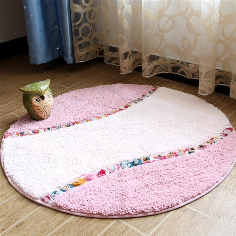 90 CM tapis ronds pour salon pastorale chambre zone tapis maison couloir paillasson ordinateur chaise tapis et tapis tapis tapis de bain