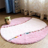 90CM Round Carpets For Living Room Pastoral Bedroom Area Rug Home Hallway Doormat Computer Chair Rugs And Carpets Bath Mat