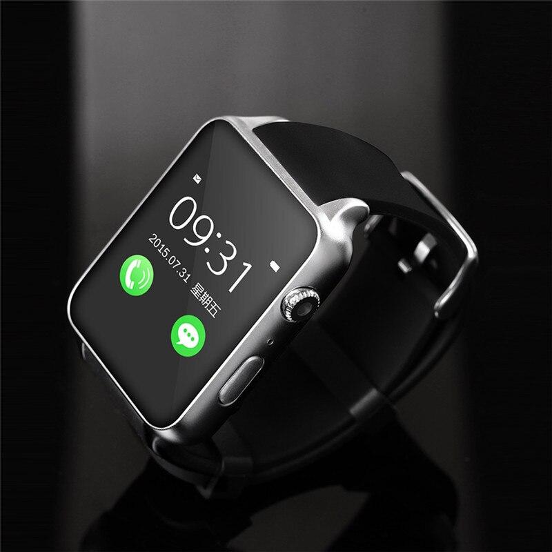 imágenes para Gt88 bluetooth smart watch para ios iphone 6 6s plus sí 7 para samsung xiaomi smartwatch sincronización de reloj notificador apoyo tf tarjeta reloj