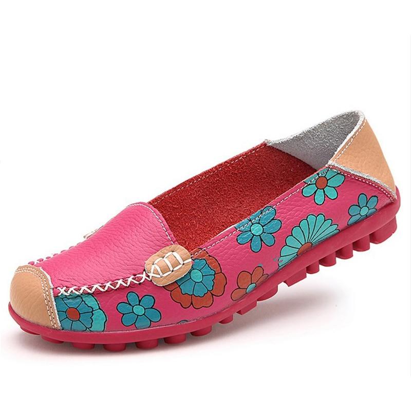4 Colores Planos Zapatos de Las Mujeres se Deslizan en Cuero de LA PU Suave muje