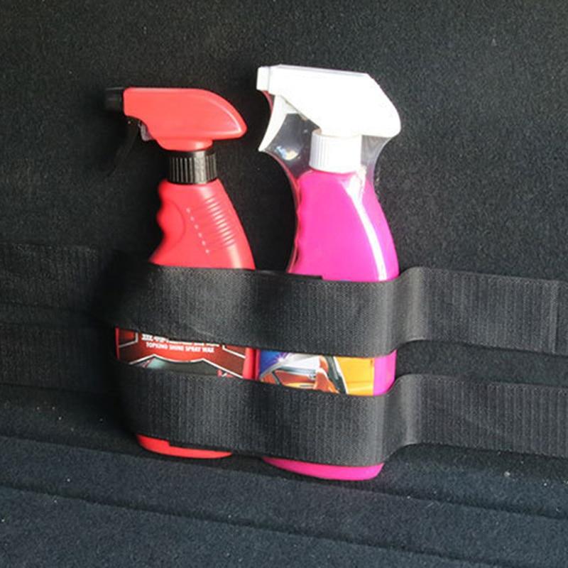 4PCS Universal Car Trunk Magic Stickers Vehicle SUV Car Tail Box Fire Extinguisher Fixing Belt Car Stickers Auto Car Accessories