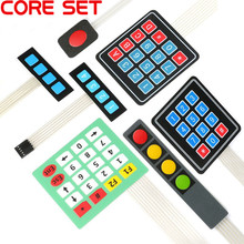 1 2 3 4 12 16 20 Key Button Membrane Switch 1x4 3x4 4x4 4x5 Keys Matrix Array Keyboard Keypad Control Panel DIY Kit For Arduino