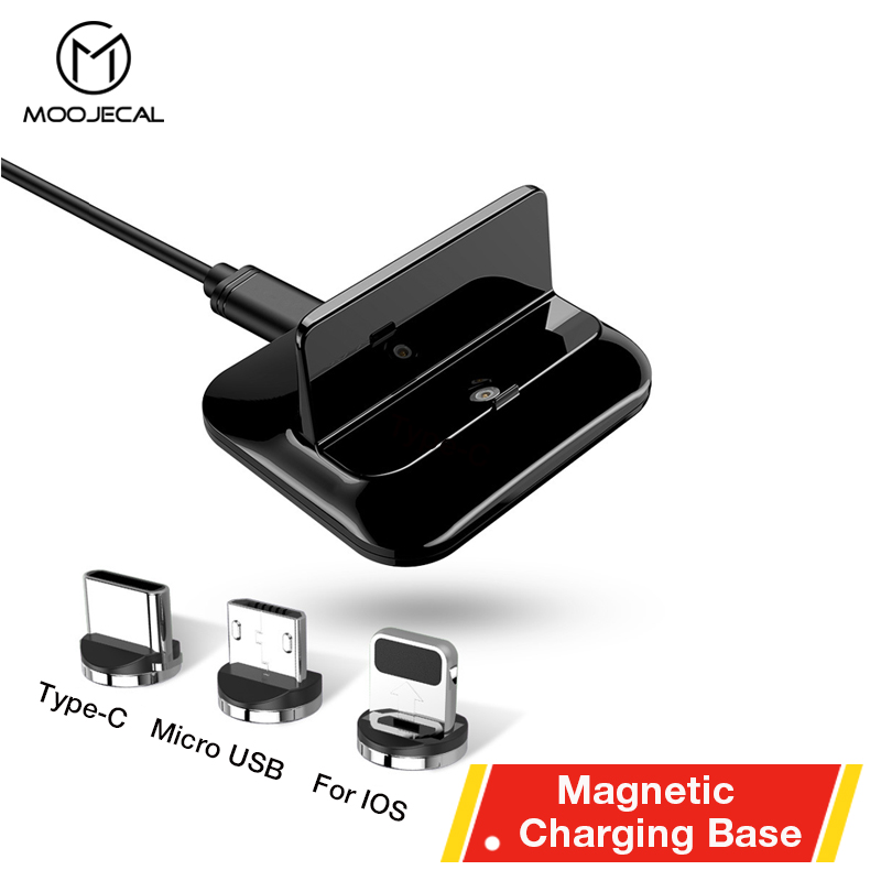 MOOJECAL NEW Magnetic charger Fast Charge USB charging base for Xiaomi huawei Tablet Android USB Charging Cord Micro usb cable