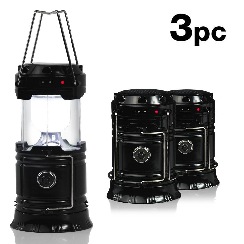 все цены на 3PCS Outdoor LED Solar Flashlight 6LEDs Camping Lantern Portable Collapsible Hand Lamp Rechargeable Waterproof Hiking Tent Light