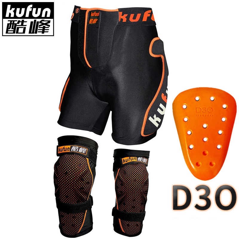 KUFUN D3O knee protector pad hip pad for ski snowboard skateboard inline skate motorcycle kids adults