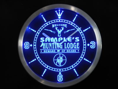 ncQL-tm Name Personalized Custom Hunting Lodge Firearms Neon Sign LED Clock Wholesale Dropshipping