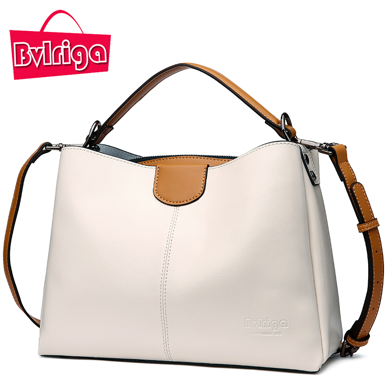 BVLRIGA Luxury Handbags Women Bags Designer Genuine Leather Bags Handbags Women Famous Brands Shoulder Bag Women Menssenger Bag