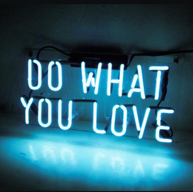 Custom DO WHAT YOU LOVE Blue White Red Pink Deep blue Purple Turquoise Green Yellow Glass Neon Light Beer Bar 4