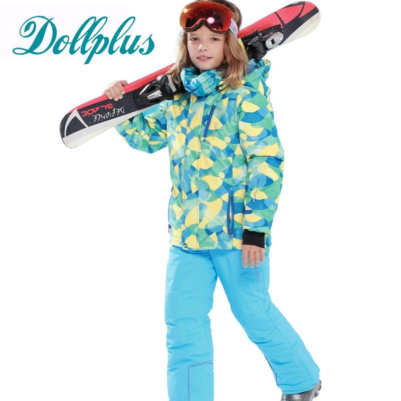 New Russian Winter Children Ski Suit Girls Waterproof Windproof Ski Jackets+Bib Pants 2pcs Boys Ski Set 6-15 Ages russian phrase book