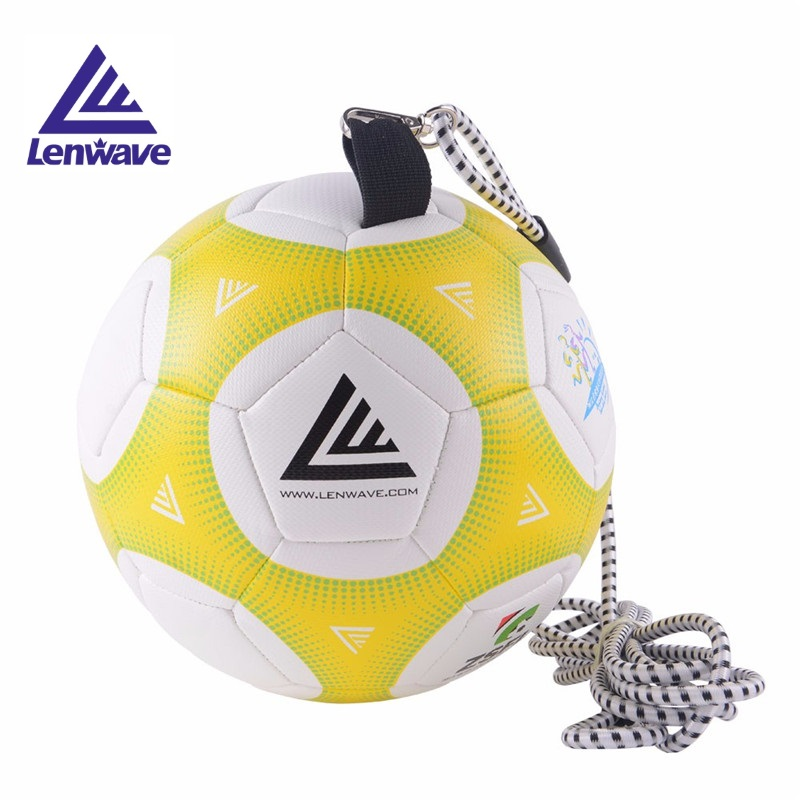2.5M Elastic Rope High Quality Official Size 4 Football Ball PU Professional Durable Soccer Balls For Training Playing + Net Bag