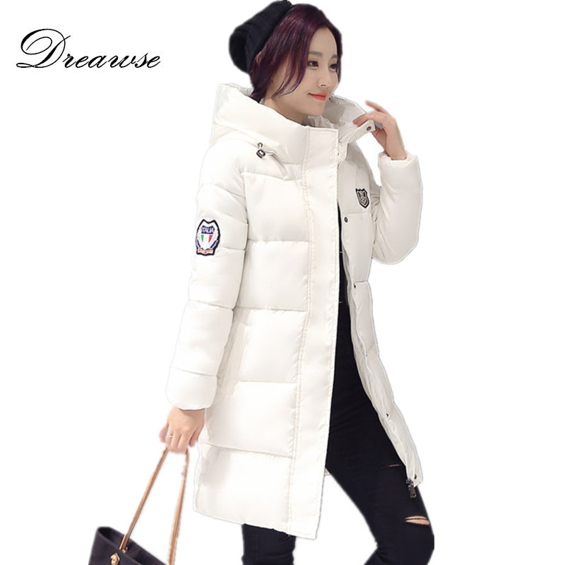 Dreawse Winter Jacket Women Hooded Thicken Coat Female Warm Outwear Down Cotton-Padded Long Wadded Jacket Coat Parka MZ792 женские часы gc x70030l1s