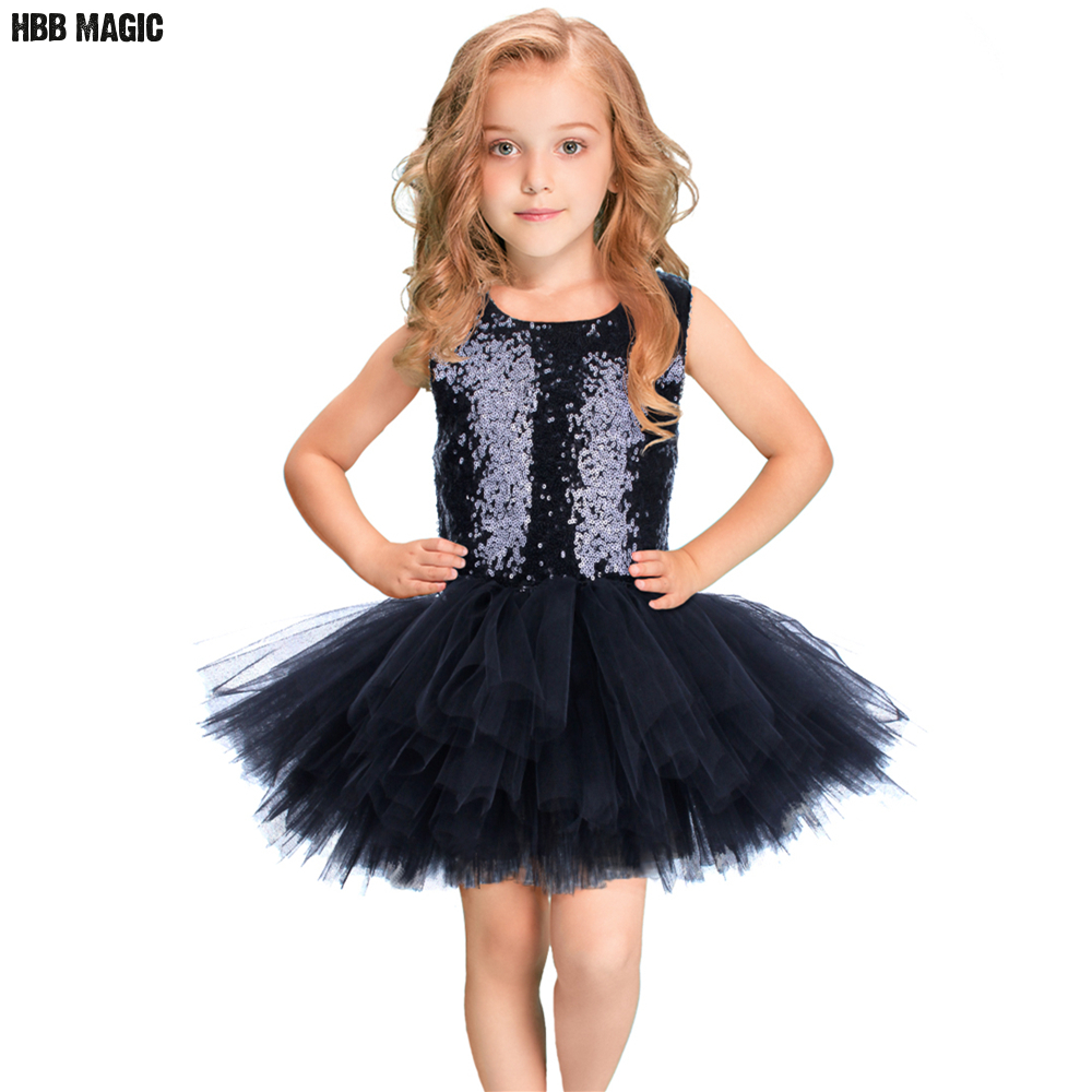 Sequins Girls Tutu Dress Sleeveless Kids Girls Wedding Party Dress Children Princess Ball Gown For Girls Tulle Performance Dress cute sleeveless sequins embellish multilayered girl s ball gown dress