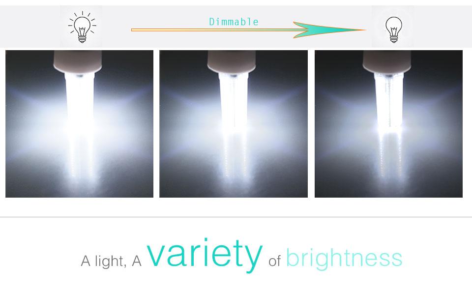 Silicone LED Corn Bulbs E11 E12 E14 E17 G4 G8 G9 LED Bulb Lamp 220V 110V  (7)