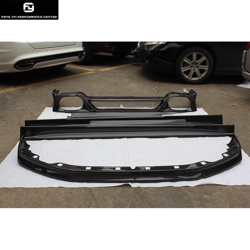 R35 GTR estilo original fibra de carbono parachoques delantero labio trasero difusor lateral faldas para Nissan R35 GT-R GTR Coche kit de carrocería 09-13