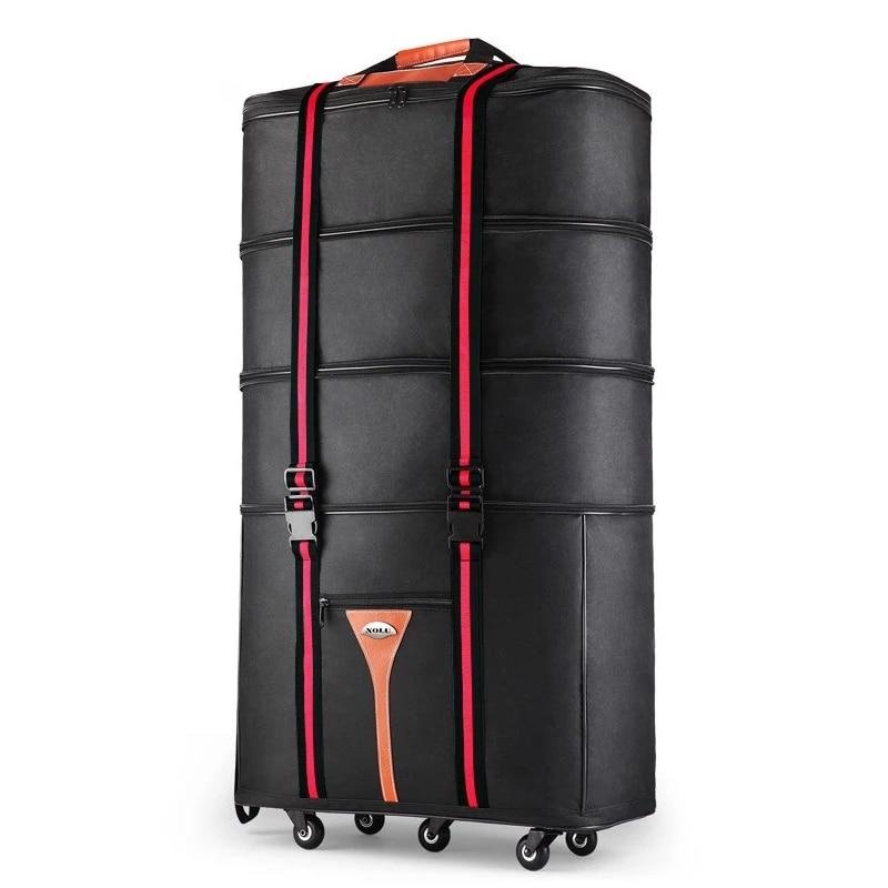 32 36 بوصة كبيرة قدرة أكسفورد القماش المتداول الأمتعة حقيبة الخارج لدراسة والتحرك للتحرك للطي عربة حقيبة السفر حقيبة-في حقائب سفر بعجلات من حقائب وأمتعة على  مجموعة 1