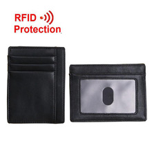 New Fashion RFID Blocking Wallet Short Design Men Wallets Black Casual RFID Protection Coin Purse Business Card Holder