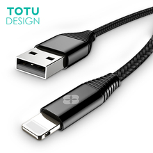 TOTU For iPhone X Cable Fast Data Charging USB Cable For iPhone 8 7 6 6s Plus 5 5S SE iPad Air Mini Charger Mobile Phone Cables