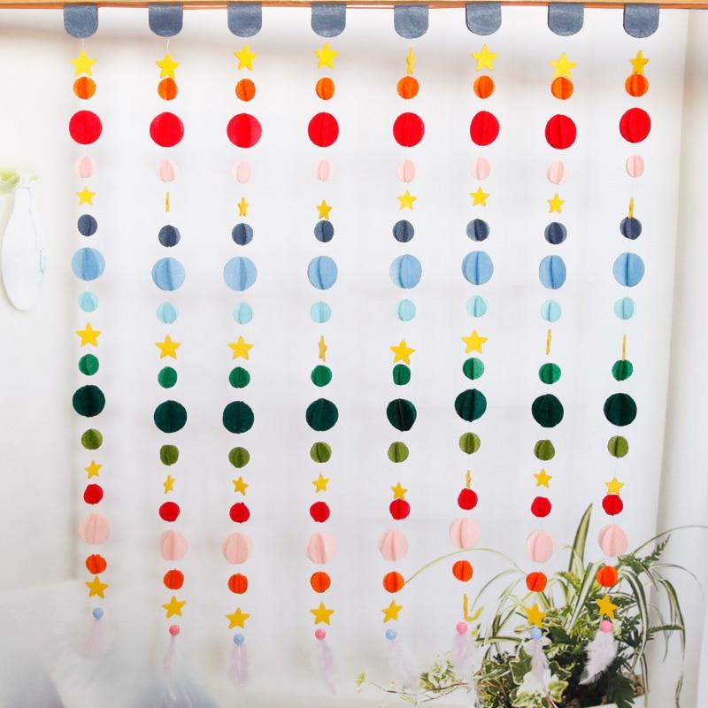 Diy Colorful Rooms: Felt DIY Set Handmade Door Curtain Easy Homemade Colorful