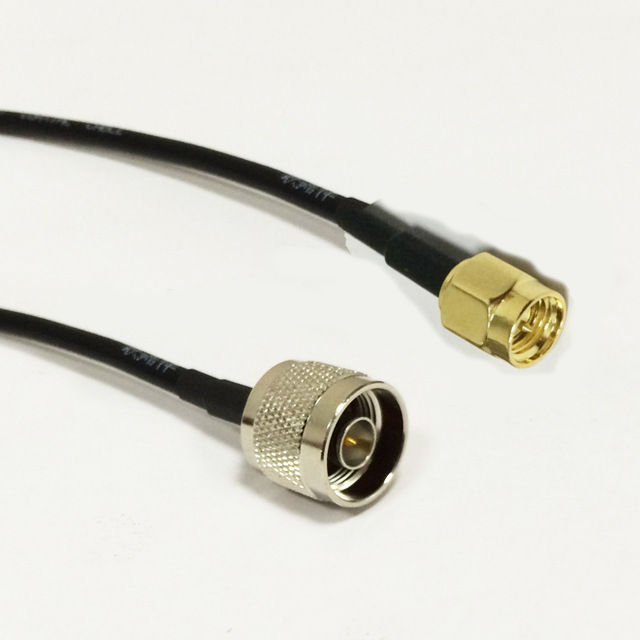 New Modem Coaxial Cable SMA Male Plug To N Male Plug Connector RG174 Cable Pigtail 20CM 8