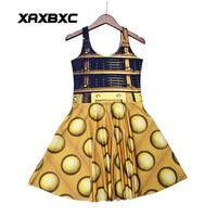 NEW 1196 Sexy Girl Women Summer Doctor Who Golden The Daleks Tardis 3D Digital Prints Reversible