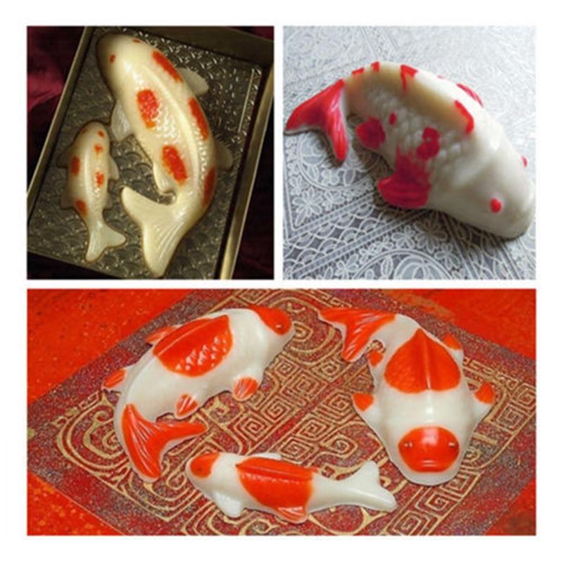 Carp Cyprinoid Balıq 3D Tort Şokolad Kalıplı Jelly Şəkər - Mətbəx, yemək otağı və barı - Fotoqrafiya 6