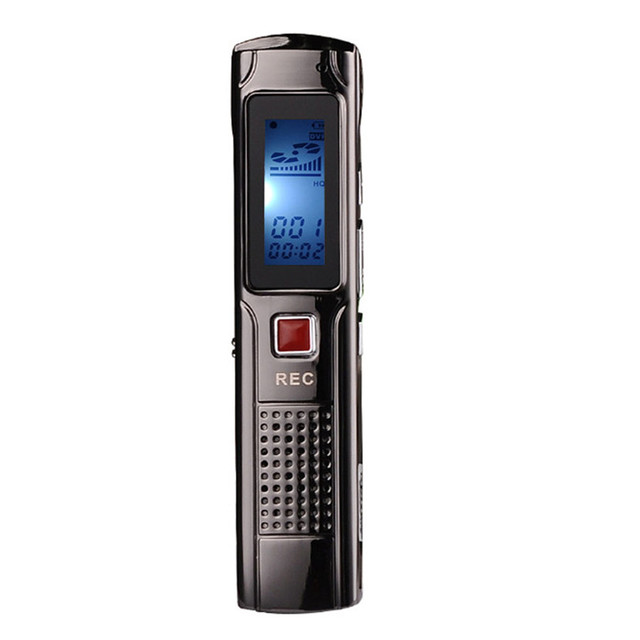 8 GB de Grabación Estéreo de Acero Mini Grabadora de Voz Digital Audio Recorder reproductor MP3