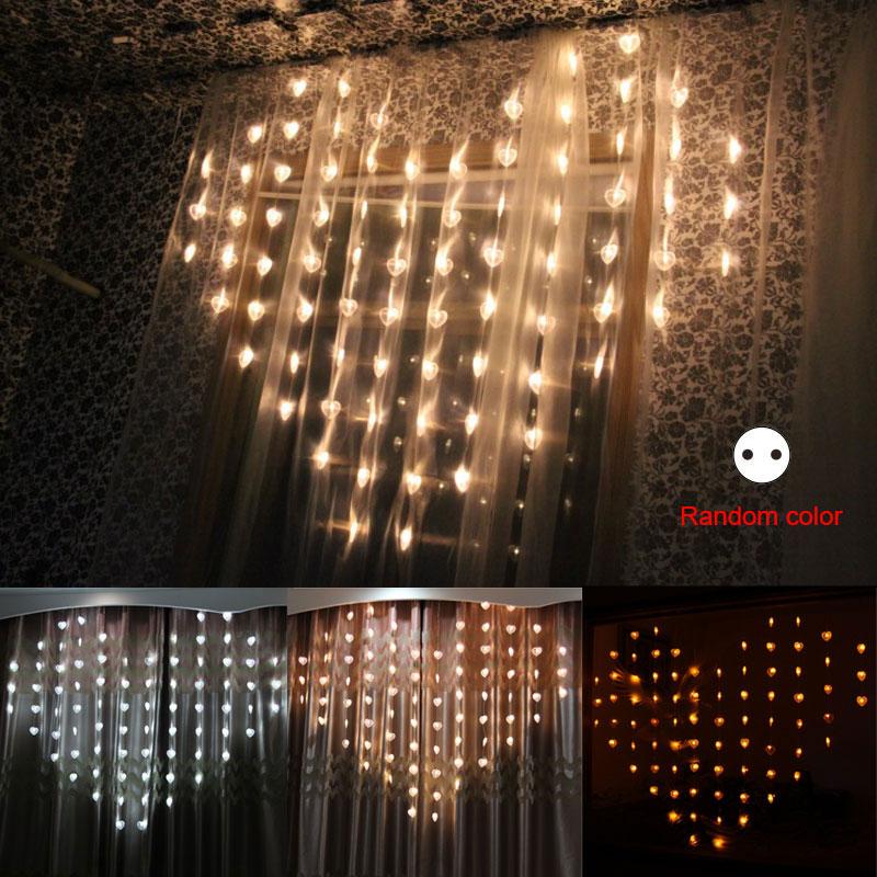 1.5M Love Heart Shape LED String Lights Valentine Day Strip Lamp Room  Curtain Decoration EU Plug CLH@8 In Lighting Strings From Lights U0026 Lighting  On ...