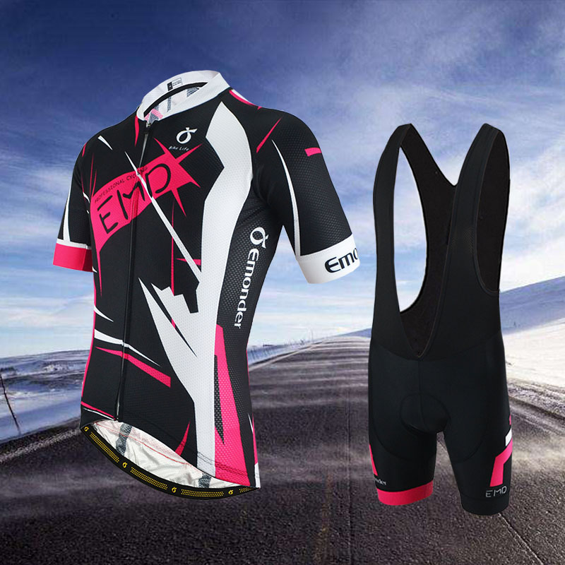 EMONDER 2019 Women Cycling Short Sets breathable bike jerseys 4D Pad Shockproofbicycle Mountain wear MTB breathable clothes
