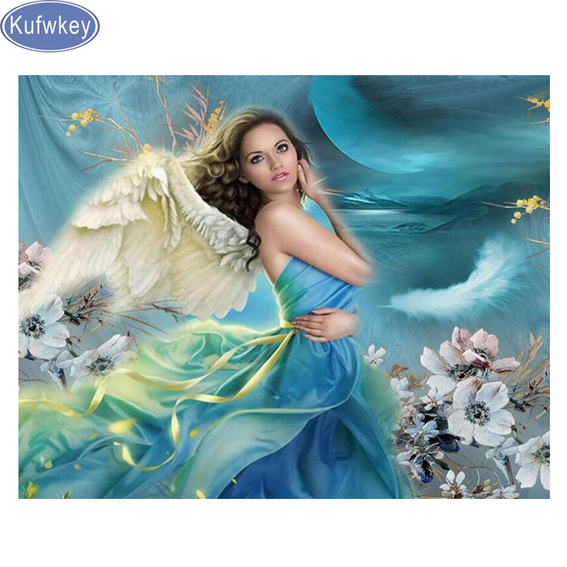 Angel Girl Beauty Full Drill DIY 5D Diamond Painting Cross Stitch Kits Mosaic