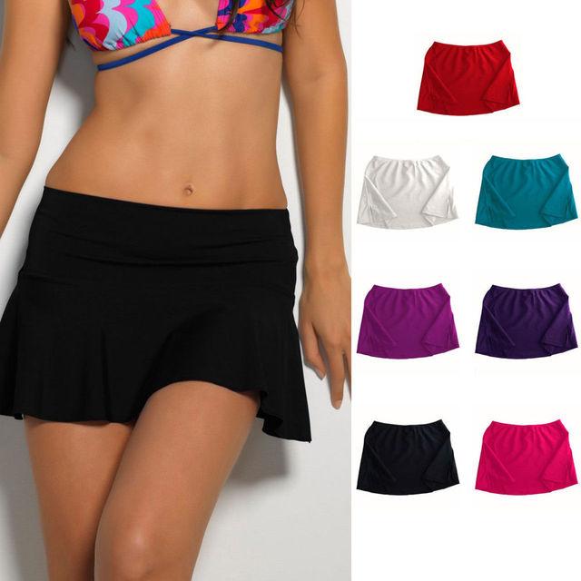 366a815ab3 Hot Summer Bikini Bottom Tankini Swim Short Skirt Swimwear Cover Up Beach  Dress Bathing Suit Beachwear Swimming Costume -in Two-Piece Separates from  Sports ...