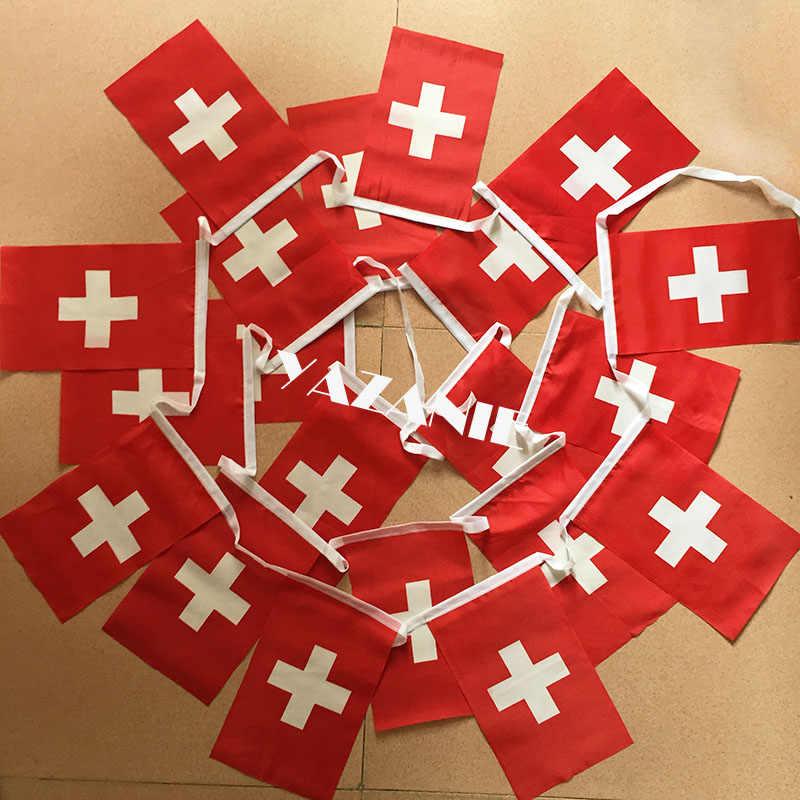 Yazanie 14*21cm 20 pçs 5 metros croácia string bandeira nacional croata bandeiras e banners 100% poliéster bandeira de croácia bunting