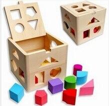 Baby Wooden Toys Bricks Jenga Toy House Doll Diy Kit Scale Model