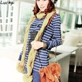 Women's Cute Soft Knitting Wool Twisted Scarf Shawl Cable 3 Colors Hot free shipping B18