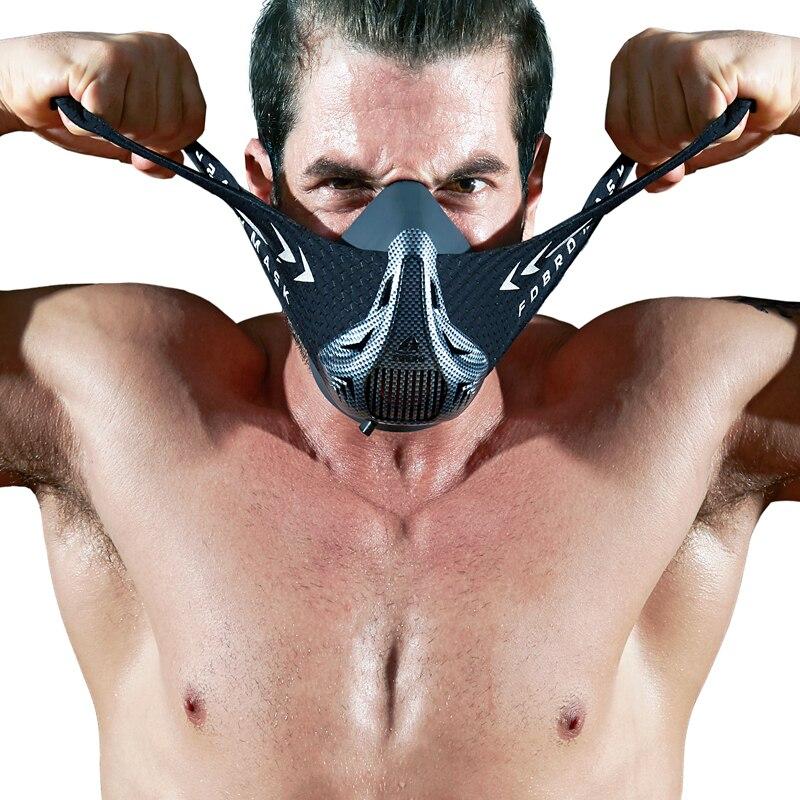FDBRO Sport masken stil schwarz Hohe Höhe ausbildung Klimaanlage training sport maske 2,0 mit box phantom maske KOSTENLOSER VERSAND