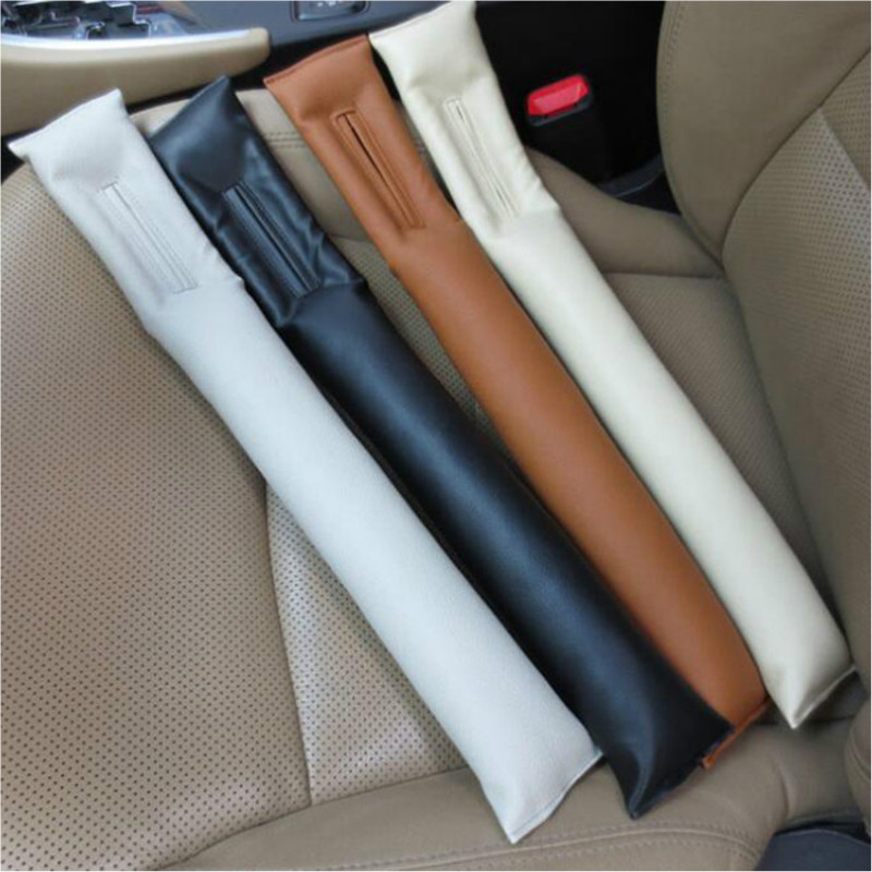 1PC PU LEATHER FRONT CAR SEAT GAP STOPPER LEAK PROOF STOP PAD FILLER SPACER MAT CUSHION COVER CAR ACCESSORIES UNIVERSAL FIT