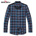 Seven7 marca mens camisas de vestido listrado clássico homens vestem camisas de manga longa dos homens camisa de moda casual 805a3793
