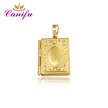 Canifu New arrival Gold Color rectangle locket Pendant Allah Muslim No Necklace Pendants factory price(China)