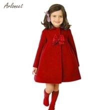 ARLONEEhot/куртки для малышей; одежда с бабочками; кружевная верхняя одежда для девочек; Модный шерстяной Тренч; Детское пальто; одежда