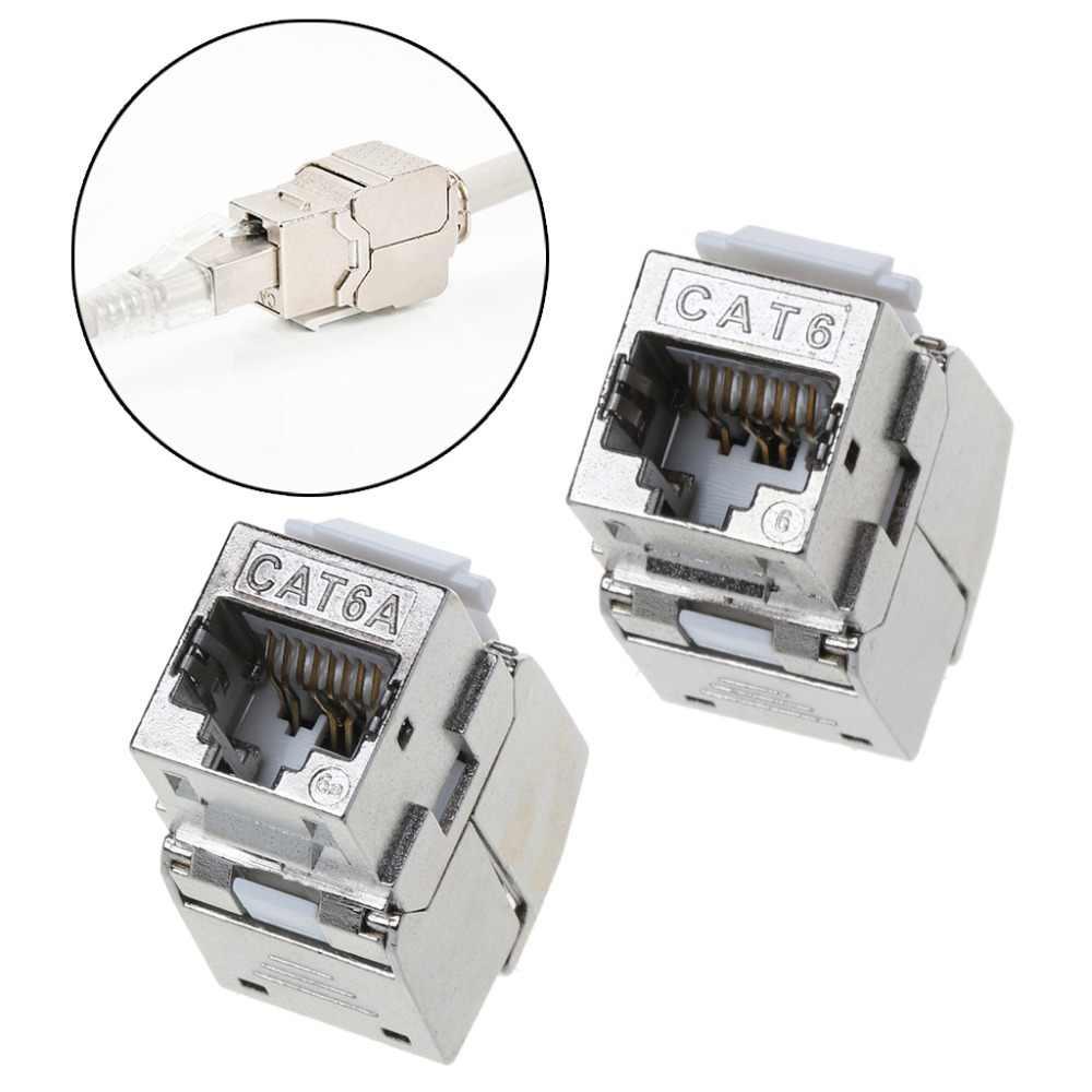 1 unidad RJ45 Keystone Cat6 Cat6A módulo blindado FTP de aleación de Zinc Keystone Jack adaptador de conector de red