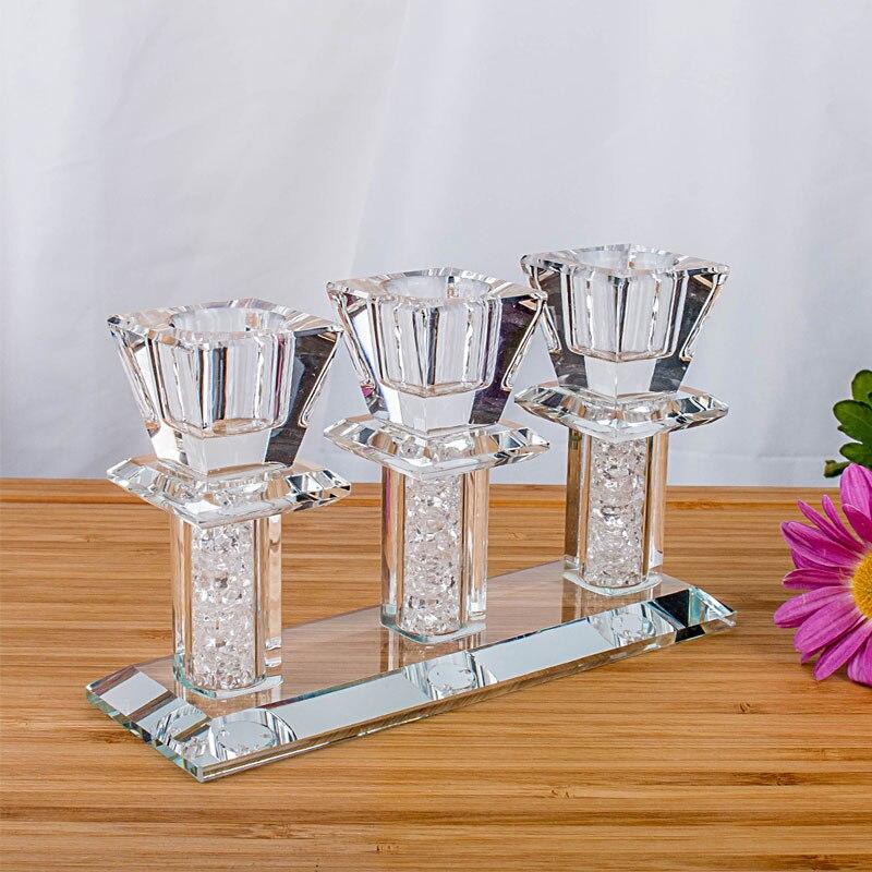 H & D Cristal 3 Tête Bougeoir De Mariage Parti Home Decor Photophore Chandeliers De Mariage Événement Chandelier Candélabres