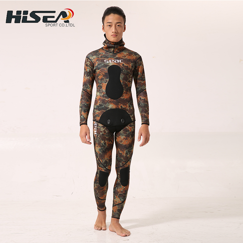 Hisea 3.5mm Neoprene Wetsuit Men Swimsuit Equipent For Diving Scuba  Swimming Surfing Spearfishing Suit Triathlon Wetsuits