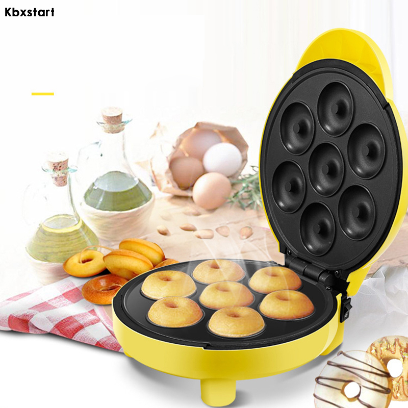 Kbxstart Electric Waffle Doughnut Maker Double sided Heating Professional Cooking Tools Baking Machine Automatic Pancake