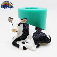 Коровы теленка силиконовая форма для шоколада инструменты для украшения торта животных молочная коровья Свеча для моделирования форма для шоколада форма S0523NN