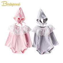 New Princess Baby Romper for Girls Cotton Jumpsuit Girl with Hat Costume Toddler Onesie Clothes