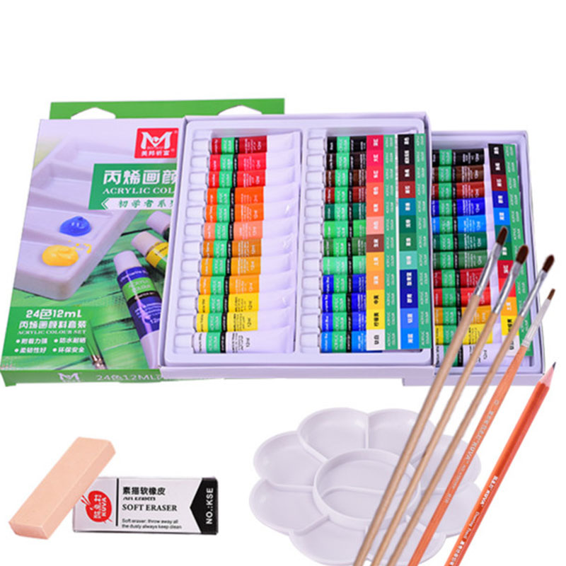 Rich Acrylic Pigment, 24 Color Suit, Beginner Painting, Graffiti Wall, Painted Paints, Painted Pigments  Acrylic Paint Set