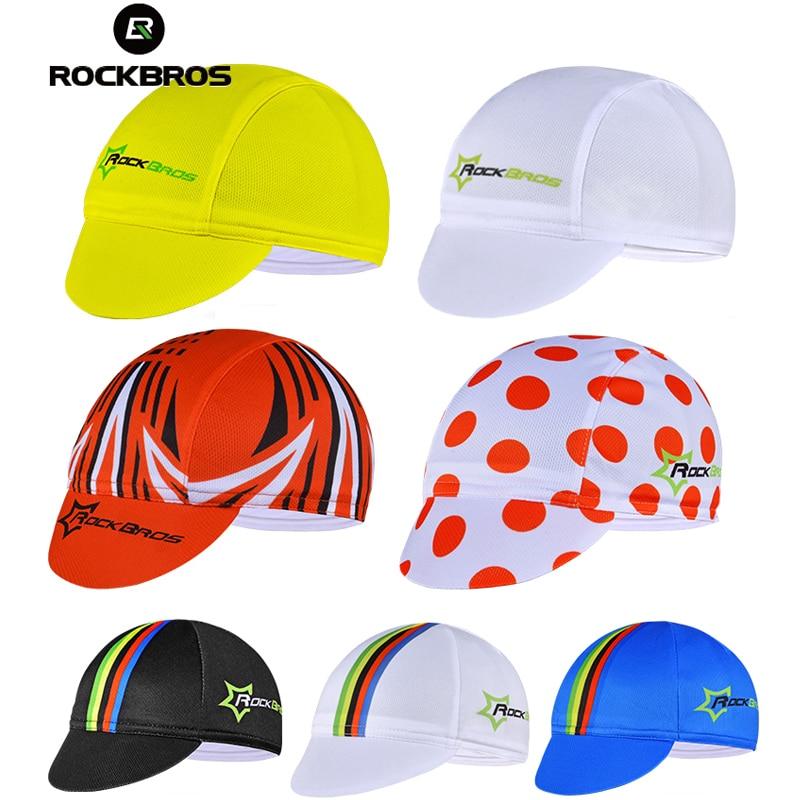 Gorra de ciclismo ROCKBROS para hombre, gorra de forro para bicicleta, gorra transpirable de algodón elástica, ropa deportiva, banda para el sudor, gorra para montar, gorra de ciclista