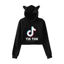 BTS tik tok software 2019 New fashion trend sala Cat Crop Top Women