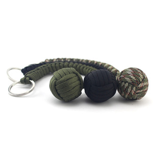 Hight Quality Self-defense Weapon Rope Lanyard Keychain Security Multi-functional Outdoor Survival Rope Self-protection Weapon